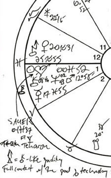 Sample of one of the hand-drawn charts I'm using to create Listen: The 2013 Annual Edition of Planet Waves.